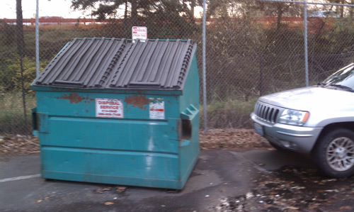 reduce re-use recycle and have a small dumpster