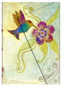 This Paperblanks Hummingbirds 2015 planner, inspired by Laurel Burch, is available in multiple siszes