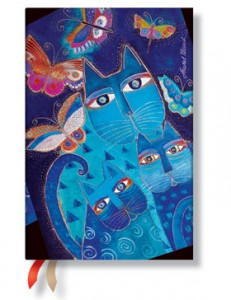 Paperblanks Mini Blue Cats 18-Month Planner