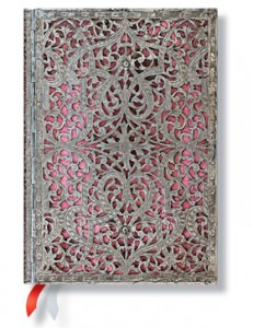 Paperblanks Silver Filigree Blush Pink 18-Month Planner