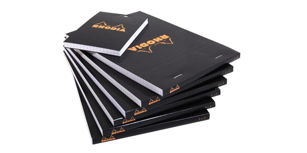 Rhodia Black Staple Bound Pads