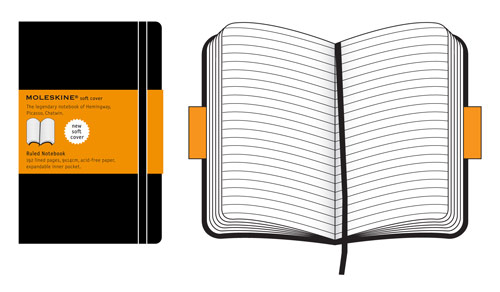Moleskine Pocket Ruled Notebook Soft Cover