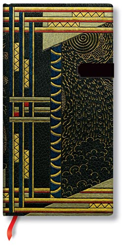 "Paperblanks Literary Art Deco Ballad 3-1/2"" x 7"" Slim Journal"