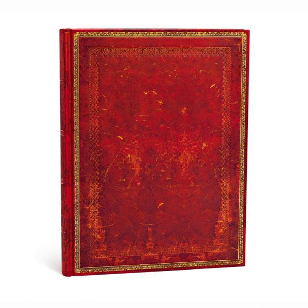 "Paperblanks Old Leather Classics 7"" x 9"" Venetian Red Ultra"