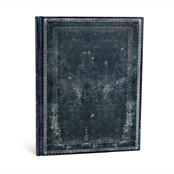 "Paperblanks Old Leather Classics 7"" x 9"" Midnight Steel Ultra"
