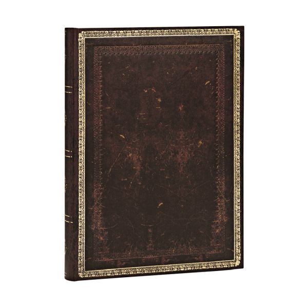 "Paperblanks Old Leather Classics 5"" x 7"" Black Moroccan Midi"