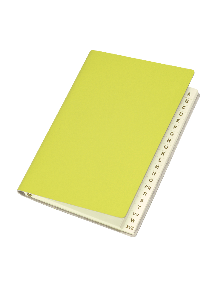 Paperthinks Slim Address Book Lemon Grass