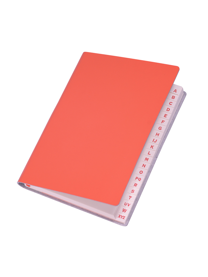 Paperthinks Slim Address Book Tangerine Orange