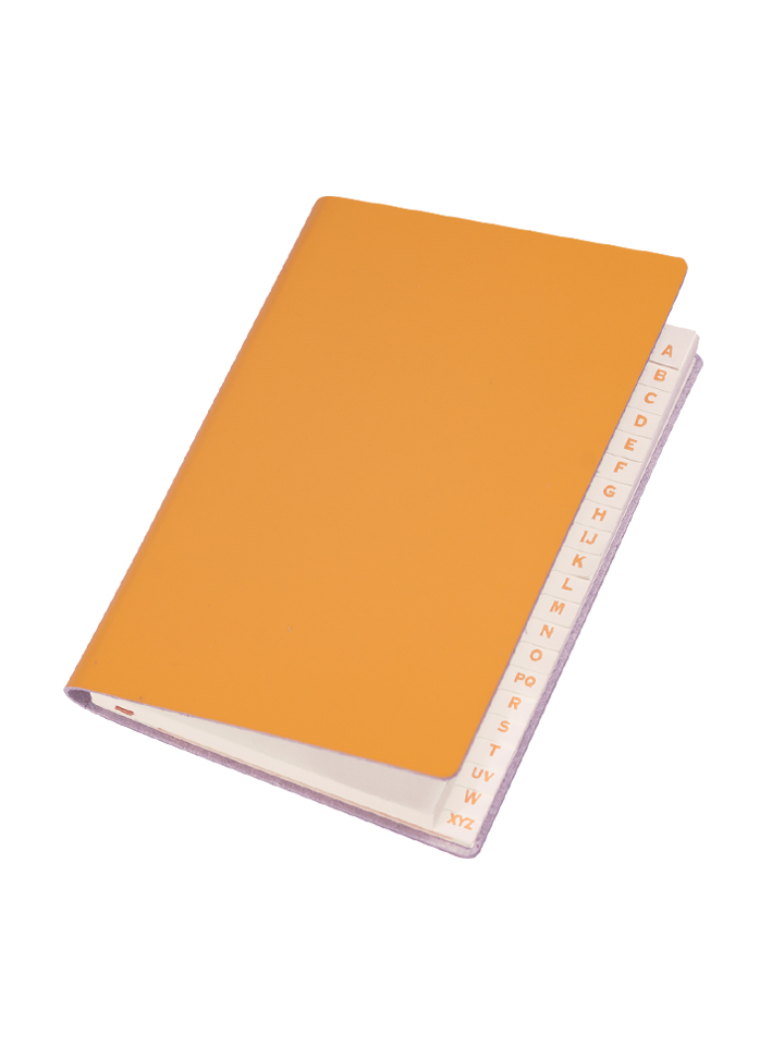 Paperthinks Slim Address Book Yellow Gold