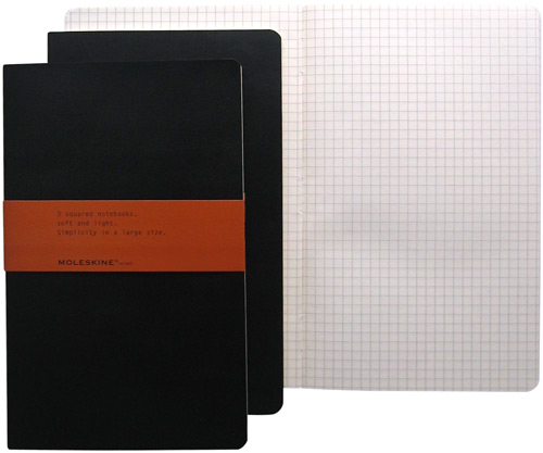 "Moleskine Original Volant Large Square/Graph (set of 3) 5"" x 8"""