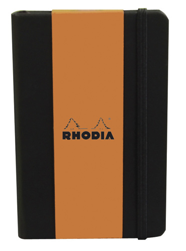"Rhodia Webnotebook Large ruled Black 5 1/2"" x 8 1/4"""