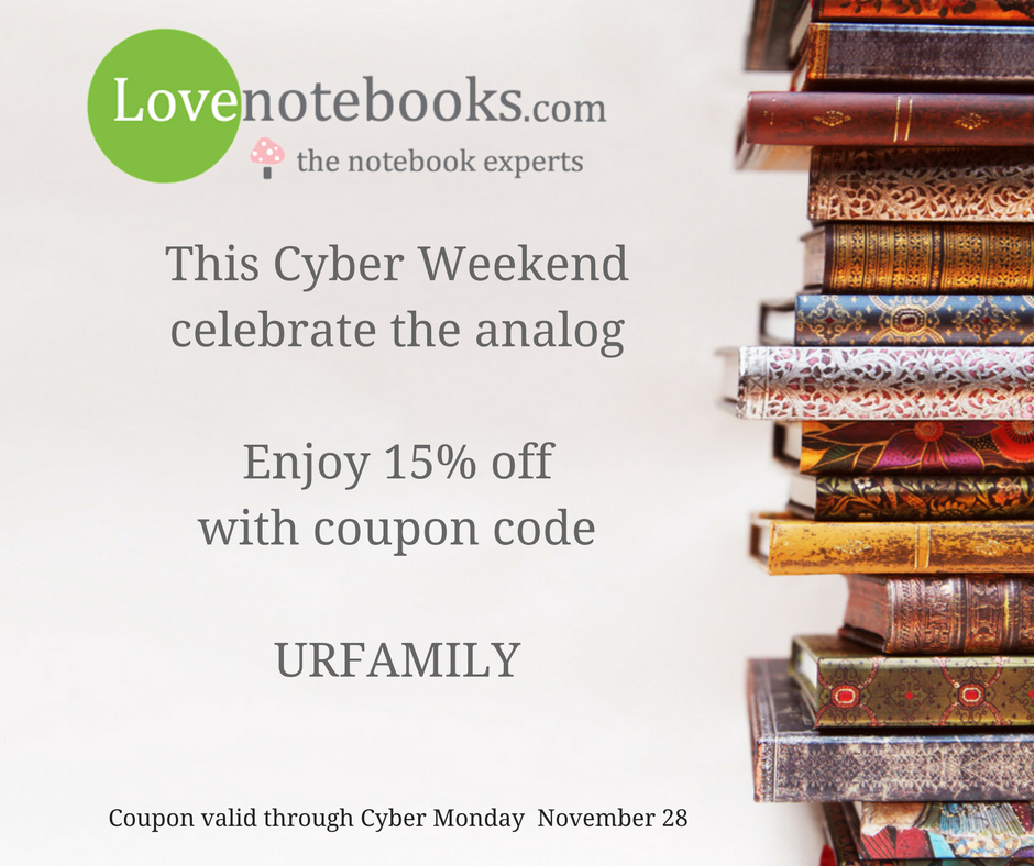 Save 15% with coupon URFAMILY at lovenotebooks
