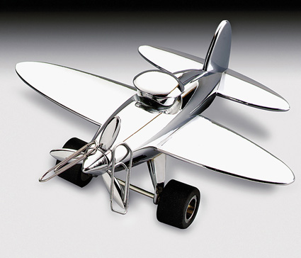 Troika Stop-Over Prop Plane Paperweight