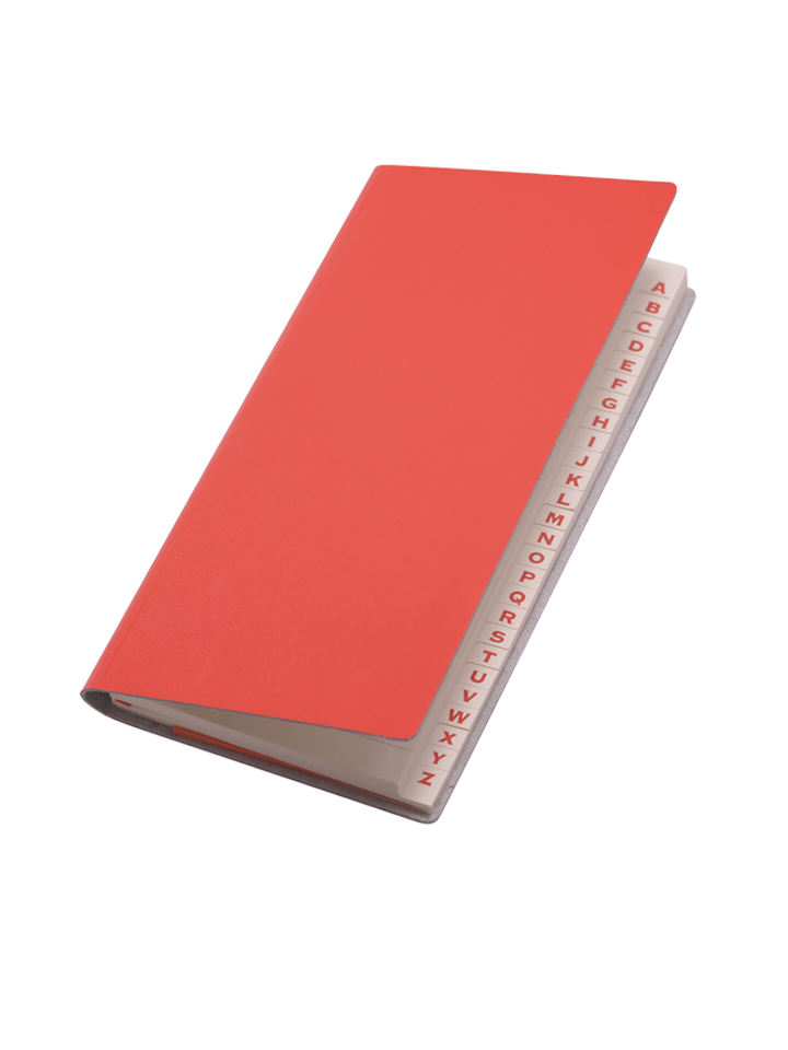 Paperthinks Long Address Book Torrid Orange