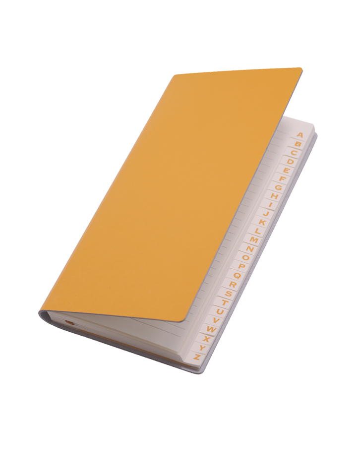 Paperthinks Long Address Book Yellow Gold