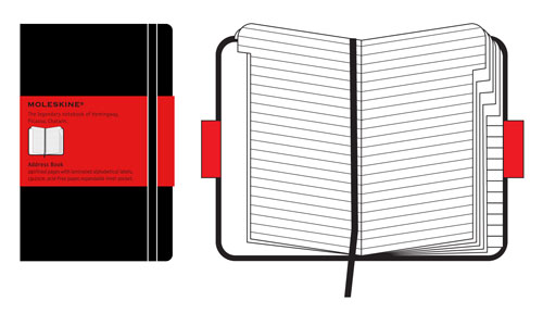 Moleskine Classic Large Address Book Hard Cover Black