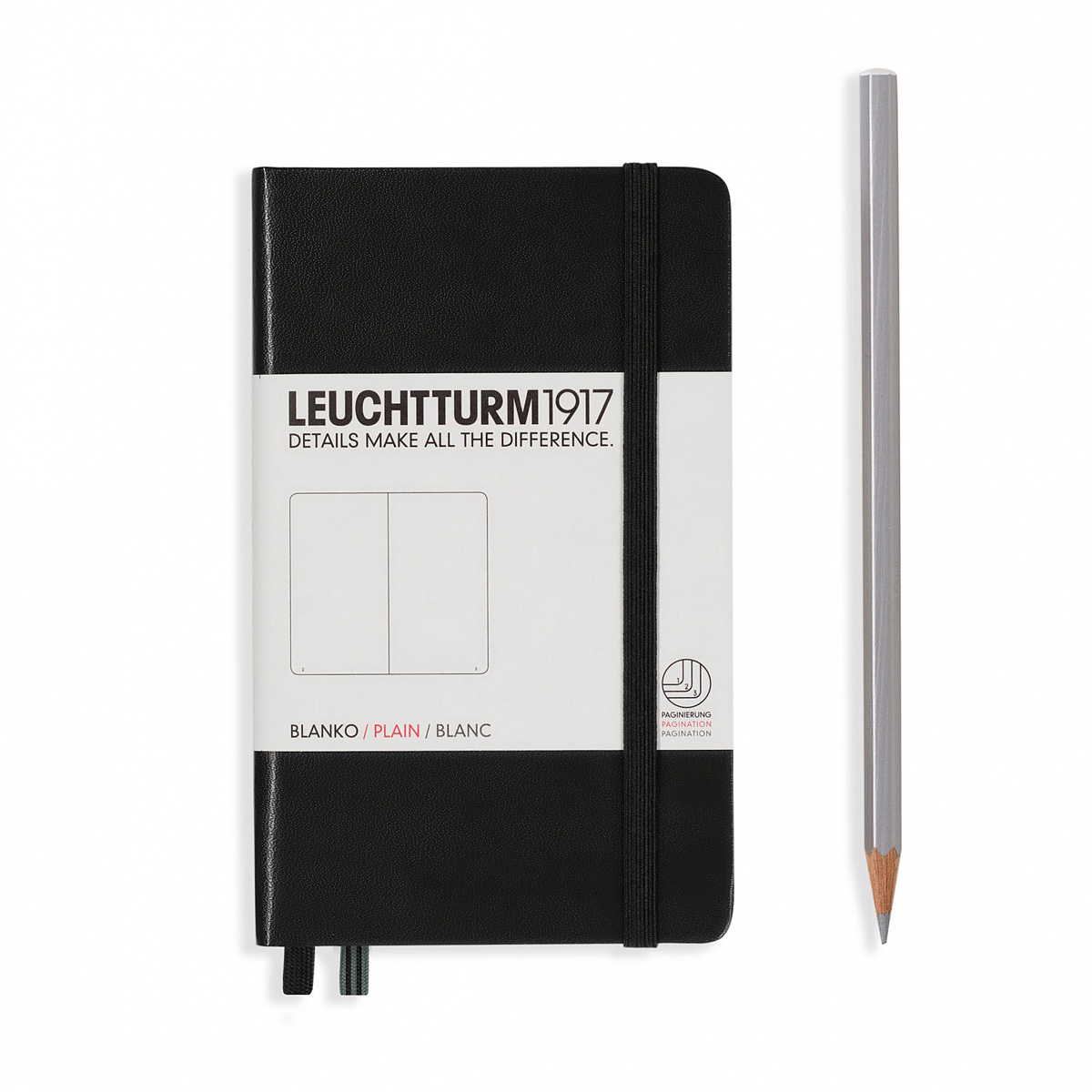 Leuchtturm classic pocket notebook hardcover 3.5 x 6 Inch
