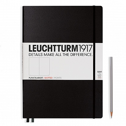 Leuchtturm Classic Slim Master Notebook Hardcover 9 x 12.5 Inch