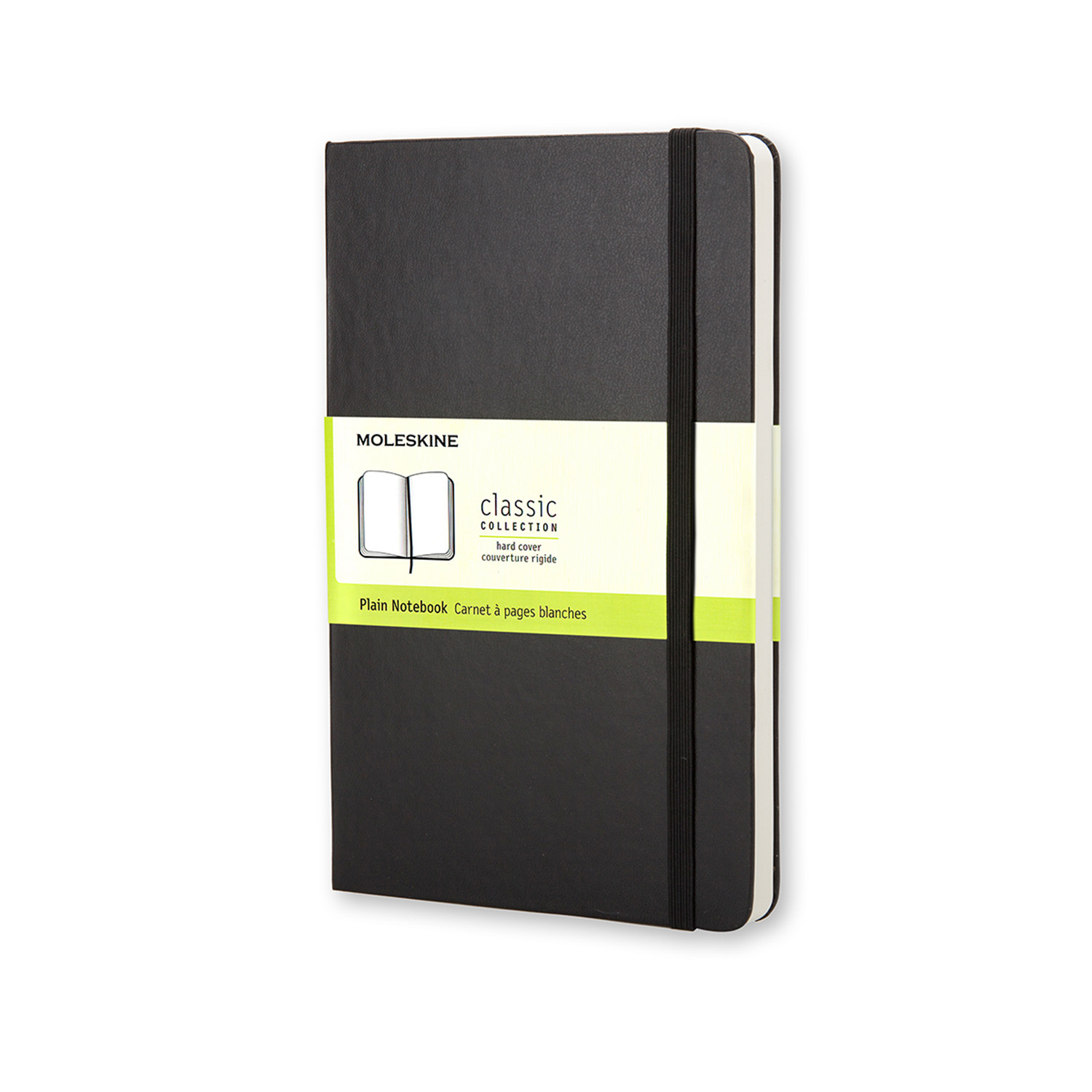 Moleskine Large Plain Notebook Hard Cover Black