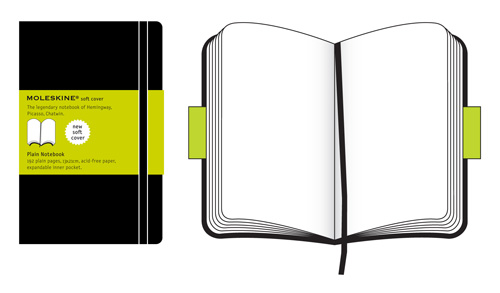 Moleskine Large Plain Notebook Soft Cover
