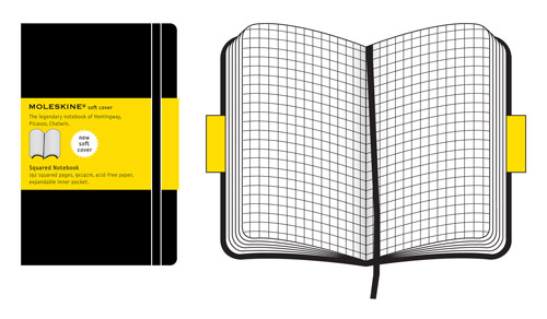 Moleskine Pocket Squared Notebook Soft Cover