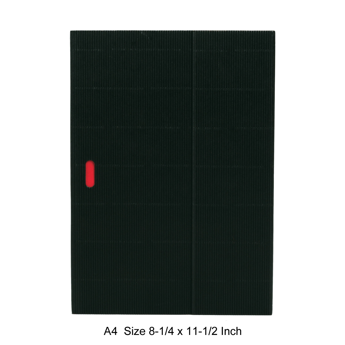 Paper-Oh Ondulo Notebook A4 Size Black