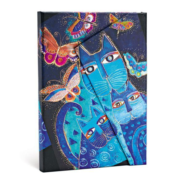 Paperblanks Laurel Burch Blue Cats & Butterflies Mini Journal