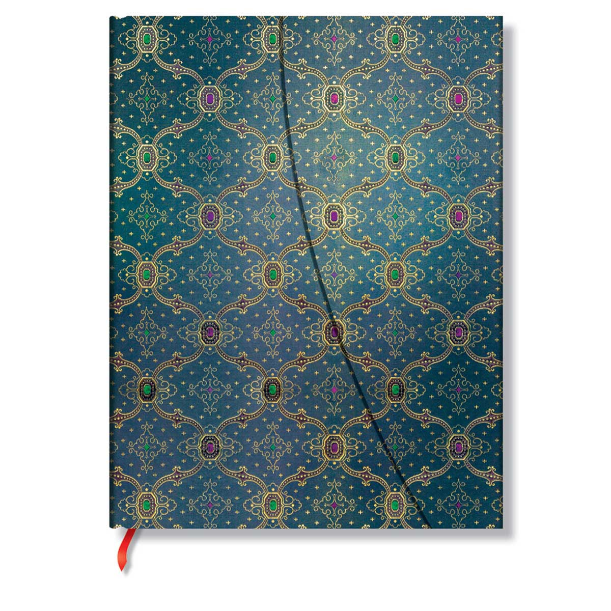 Paperblanks French Ornate Bleu Ultra 7 x 9 Inch Lined Journal