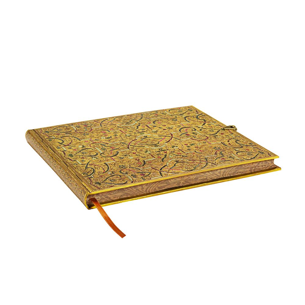 Paperblanks Gold Inlay 9 x 7 Inch Blank Guest Book