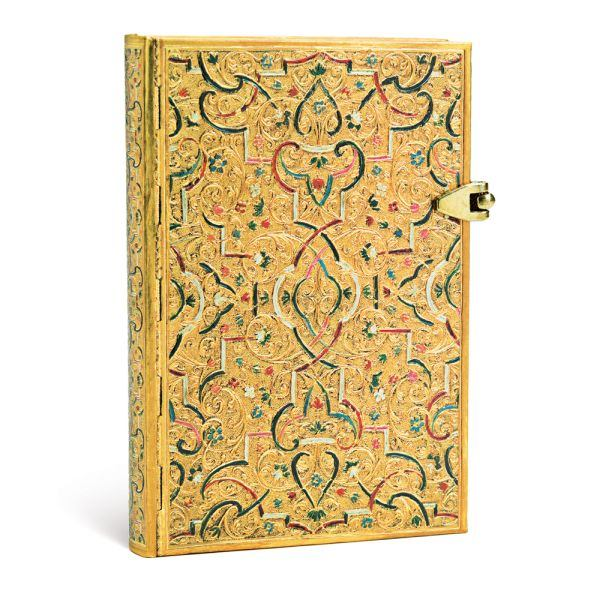 Paperblanks Gold Inlay Mini 4 x 5.5 Inch Lined Journal