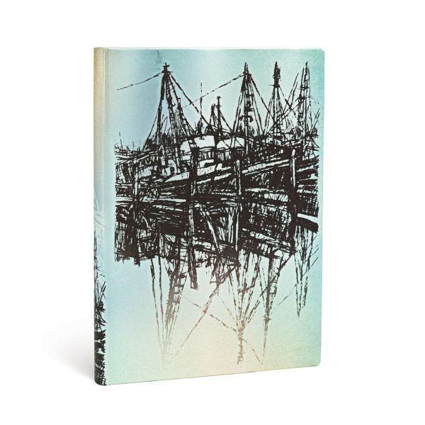 Paperblanks Boats and Reflections Midi 5 x 7 Inch Journal