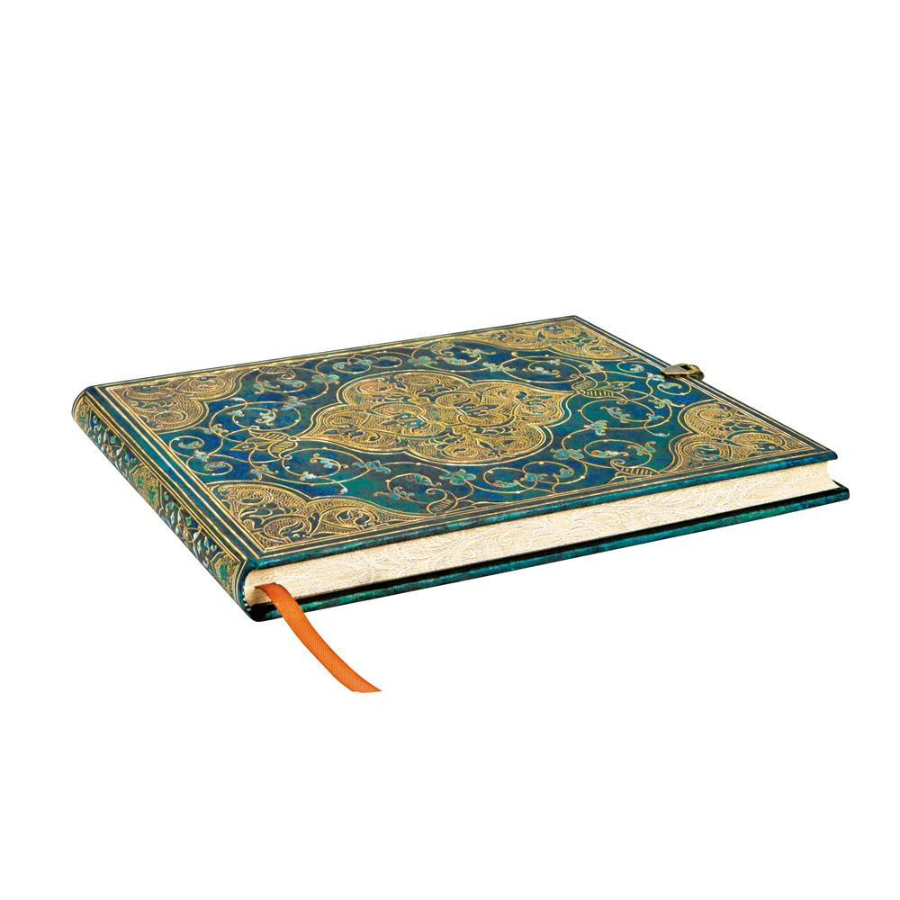"Paperblanks Guestbook: Turquoise Chronicles 9"" x 7"""