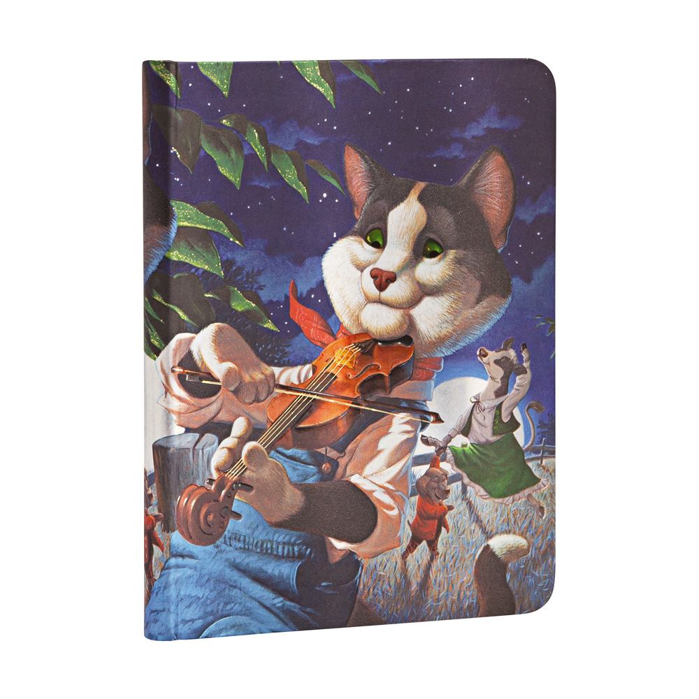Paperblanks Midi Cat and the Fiddle 4.75 x 6.75 Inch