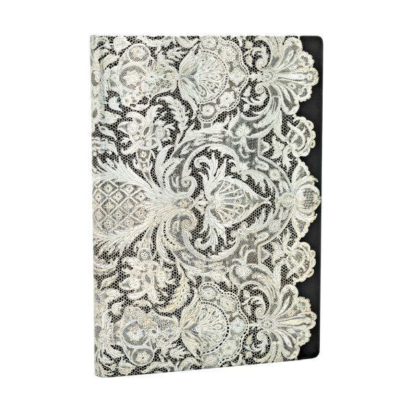 Paperblanks Lace Allure Ivory Veil Midi 5 x 7 Inch Lined Journal
