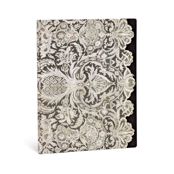 Paperblanks Lace Allure Ivory Veil Ultra 7 x 9 In Lined Journal