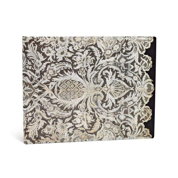 Paperblanks Lace Allure Ivory Veil 9 x 7 Inch Blank Guest Book
