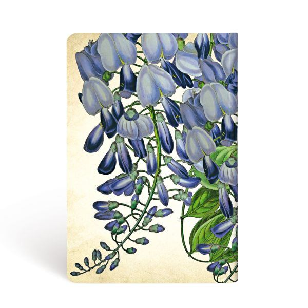 "Paperblanks Blooming Wisteria Mini 3 3/4"" x 5 1/2"" Journal"