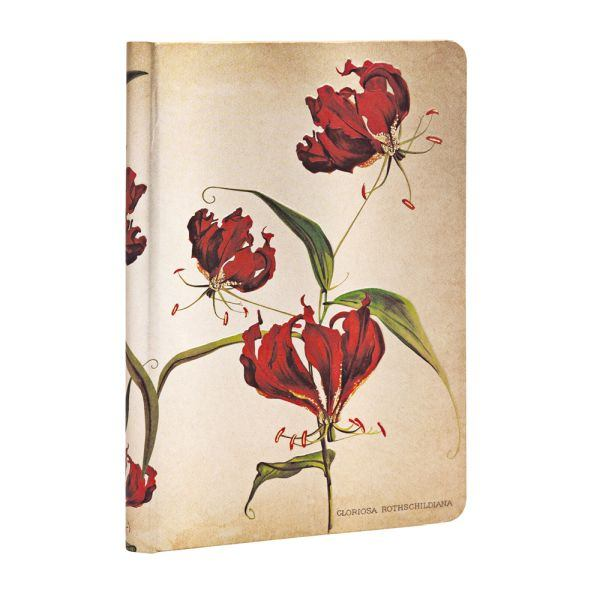 "Paperblanks Gloriosa Lily Mini 3 3/4"" x 5 1/2"" Journal"