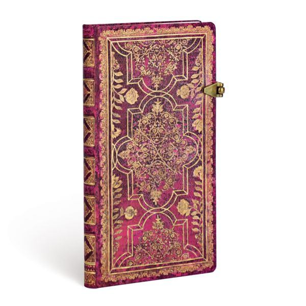 Paperblanks Fall Filigree Amaranth Slim 3.5 x 7 Inch Journal