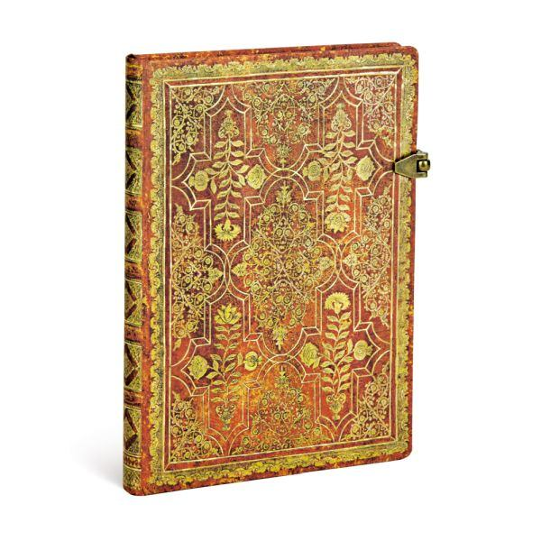 Paperblanks Fall Filigree Persimmon Midi 5 x 7 Inch Journal