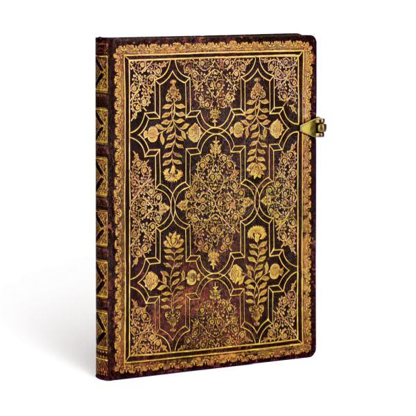 Paperblanks Fall Filigree Mahogany Midi 5 x 7 Inch Journal