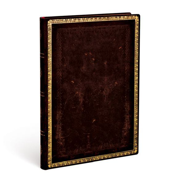 Paperblanks Flexis Old Leather Black Moroccan Midi 176 Pages