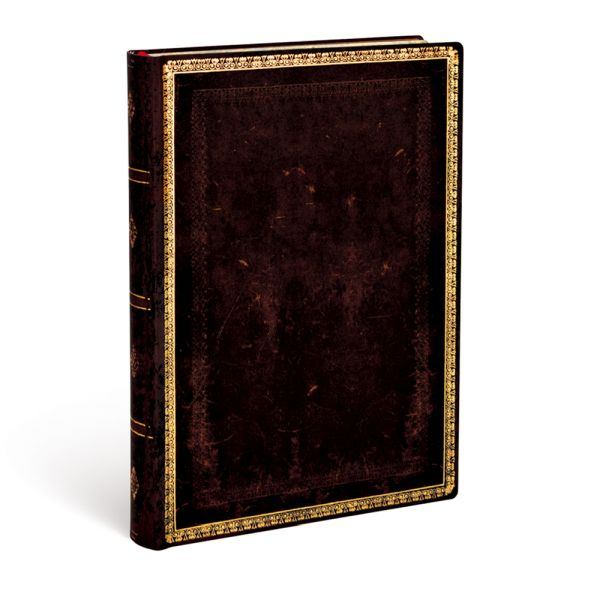 Paperblanks Flexis, Black Moroccan Midi 240 Lined Pages