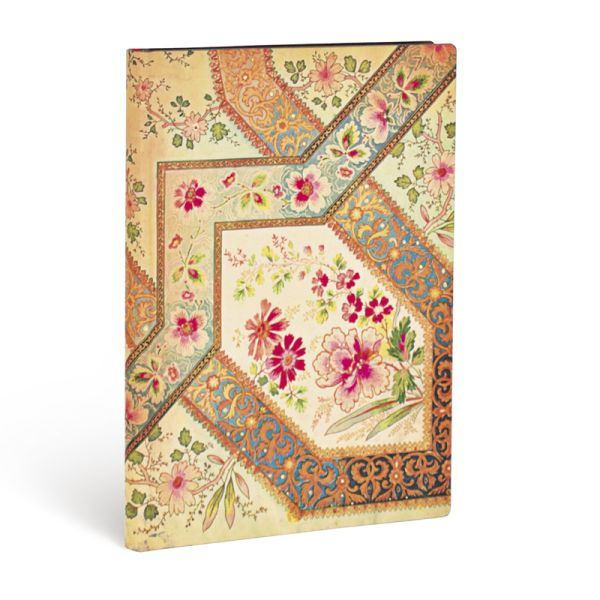 Paperblanks Flexis, Filigree Floral Ivory, Midi 176 Lined Pages