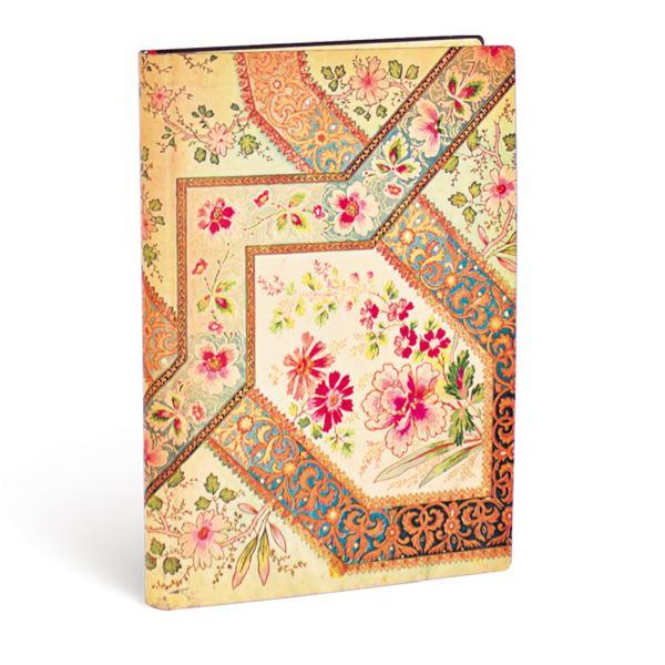 Paperblanks Flexis, Filigree Floral Ivory Midi 240 Lined Pages