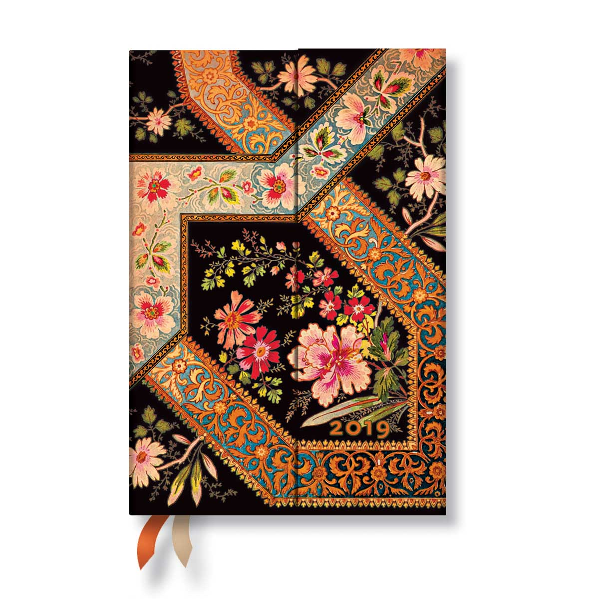 Paperblanks Mini Filigree Floral Ebony 2019 Daily Planner