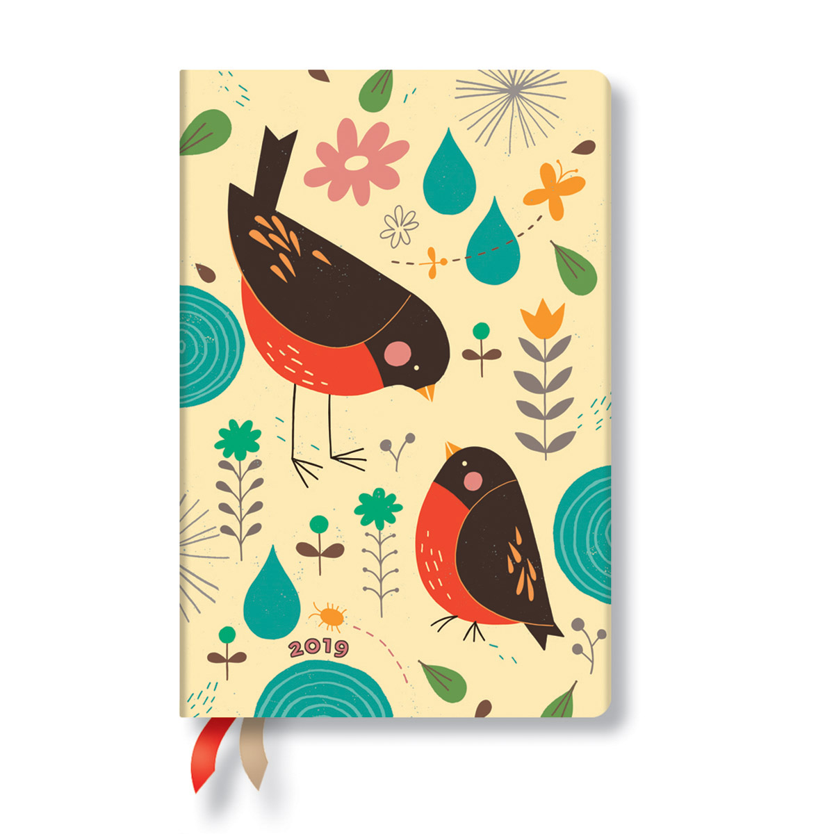 Paperblanks Mini Mother Robin 2019 Day-At-A-Time Planner