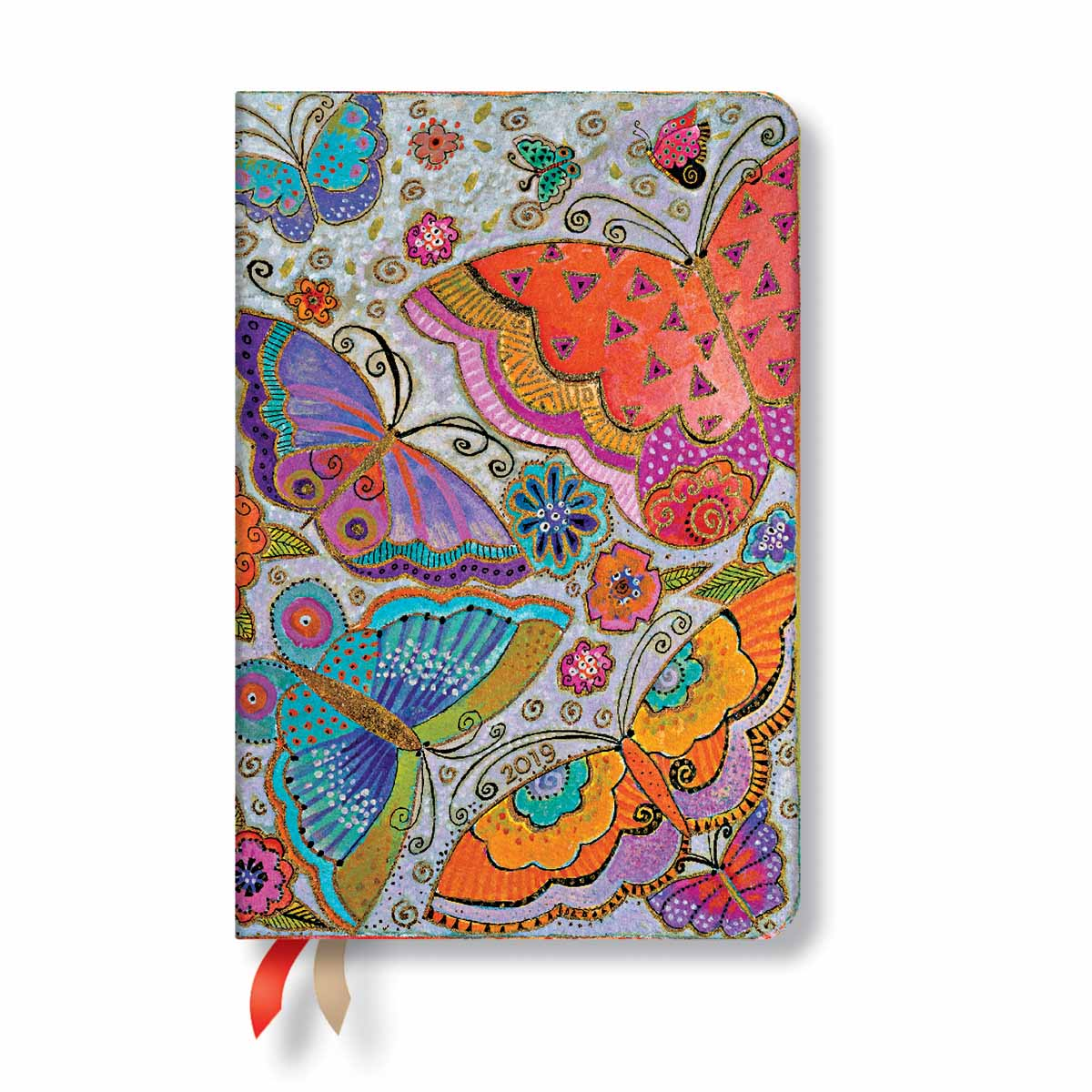 Paperblanks Mini Flutterbyes 2019 Week-At-A-Time Planner