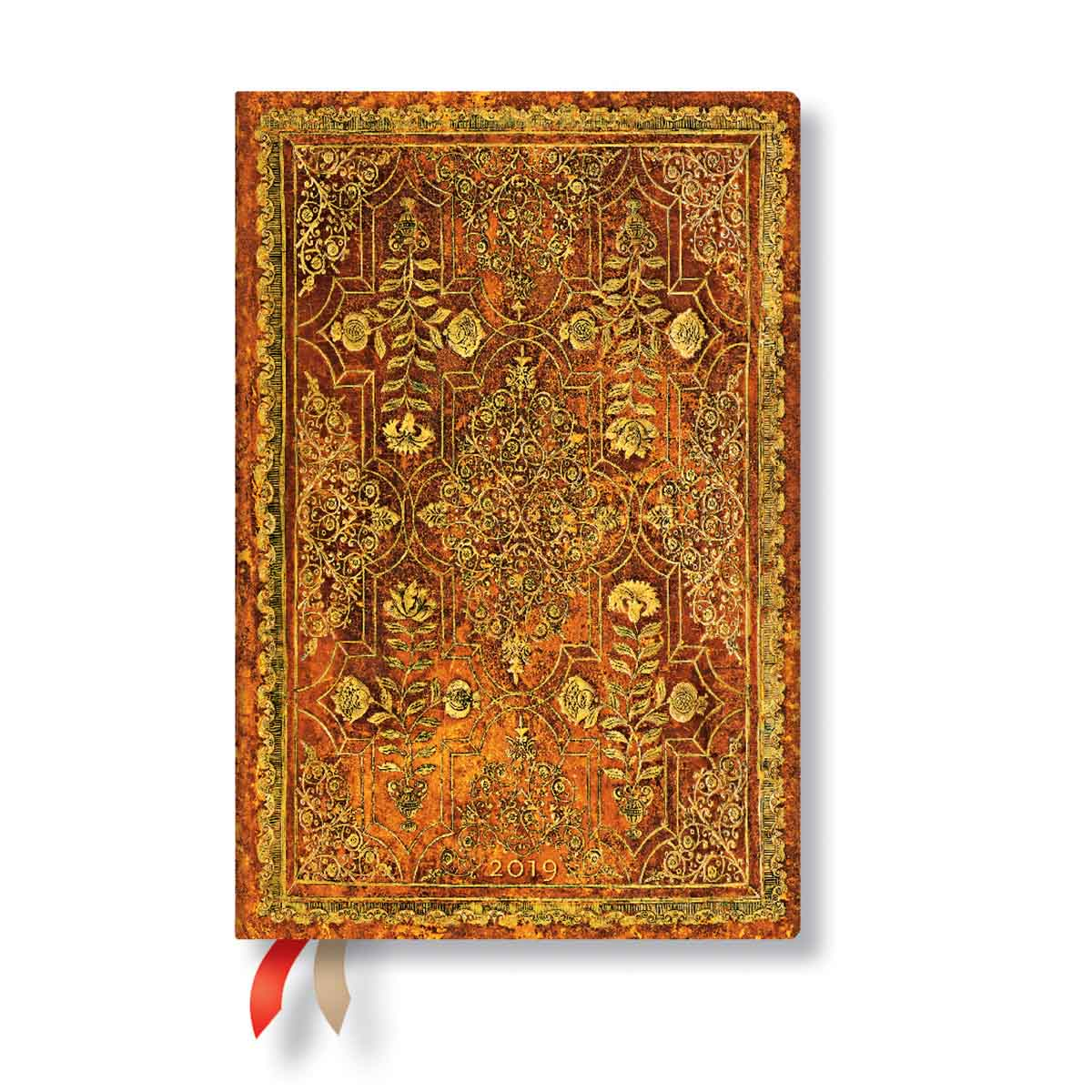 Paperblanks Mini Persimmon Week-At-A-Time Planner