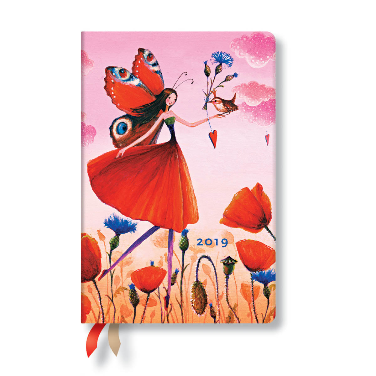 Paperblanks Mini Poppy field 2019 Week-At-A-Time Planner
